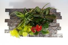 Cadre végétal décor pierre 60x30cm