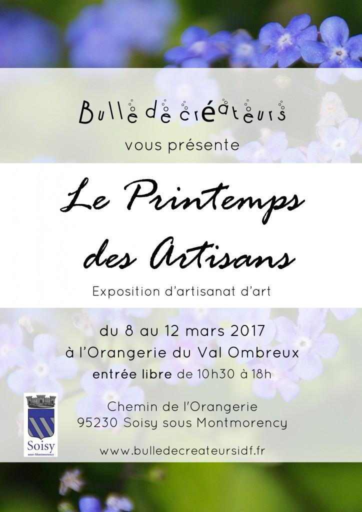 affiche printemps des artisans logo soisy